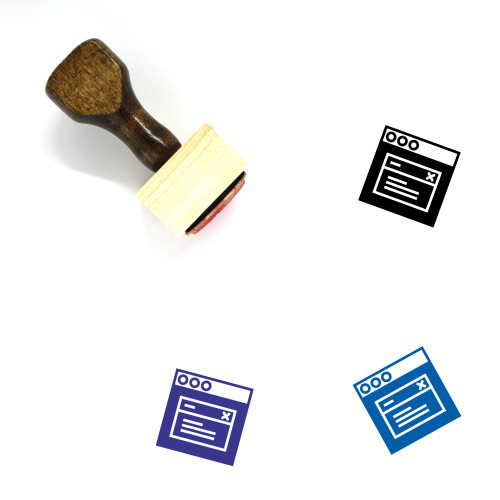 Modal Window Wooden Rubber Stamp No. 2