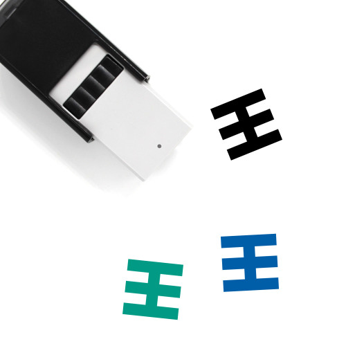 Abstract Self-Inking Rubber Stamp No. 30