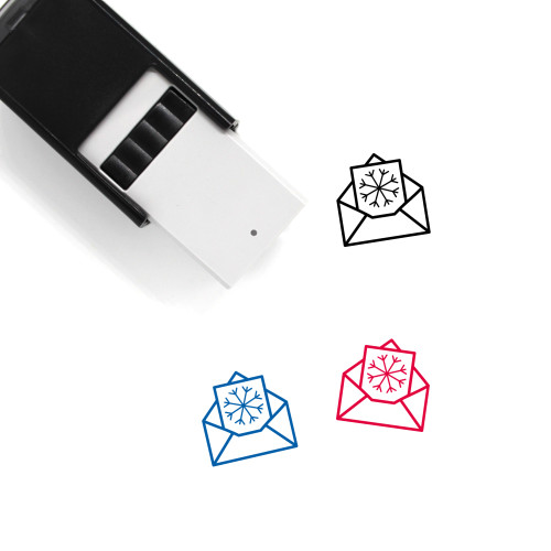 Christmas Card Self-Inking Rubber Stamp No. 8