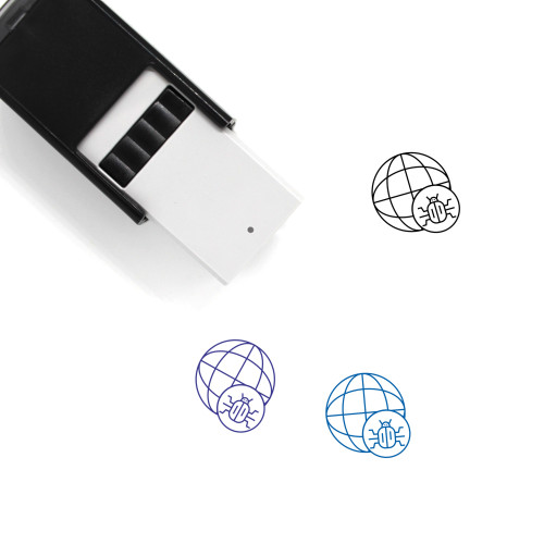 World Bug Self-Inking Rubber Stamp No. 1