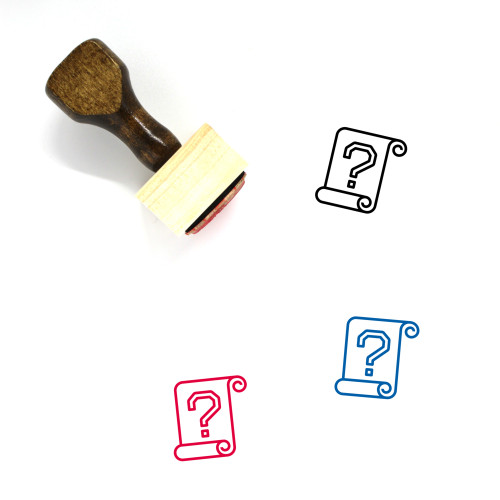Help Wooden Rubber Stamp No. 73