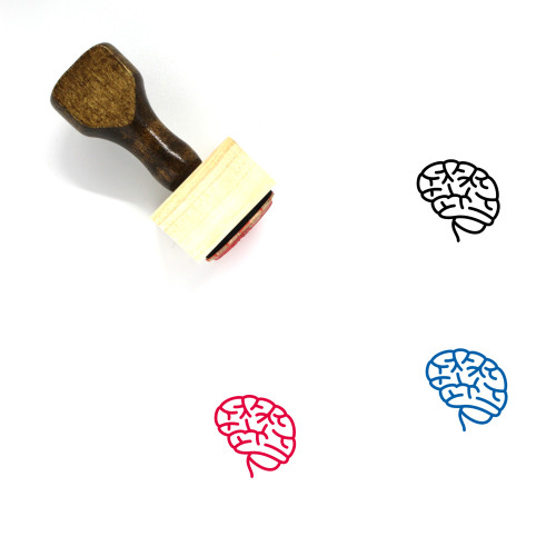 Brain Wooden Rubber Stamp No. 138
