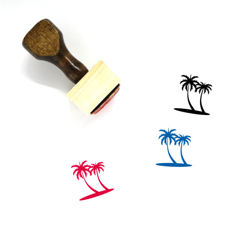 Palm Wooden Rubber Stamp No. 134