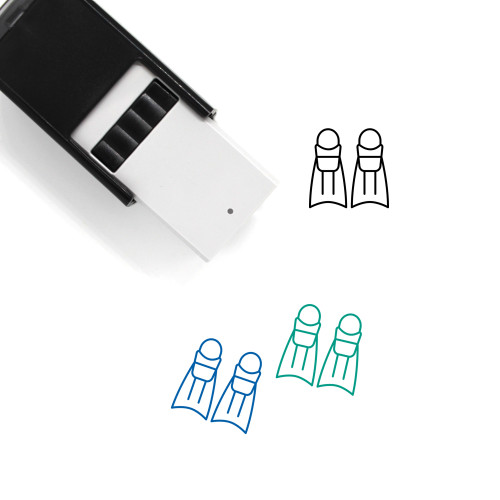 Fins Self-Inking Rubber Stamp No. 4