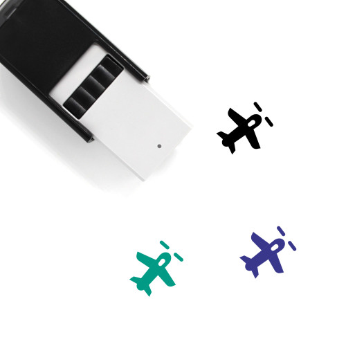 Military Plane Self-Inking Rubber Stamp No. 7