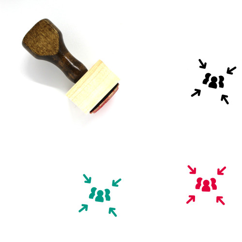 Assembly Point Wooden Rubber Stamp No. 2