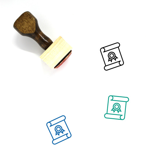 Academic Degree Wooden Rubber Stamp No. 15