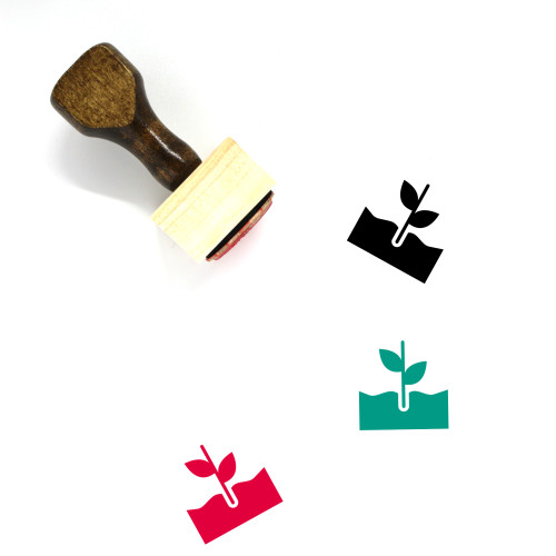 Plant Growth Wooden Rubber Stamp No. 7