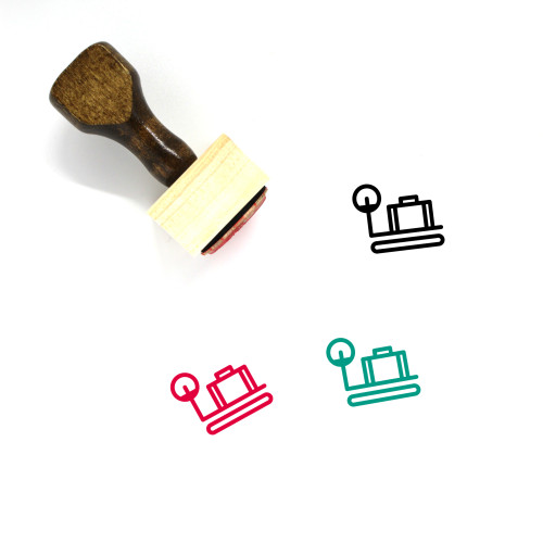 Luggage Scale Wooden Rubber Stamp No. 12