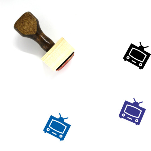 Television Wooden Rubber Stamp No. 129