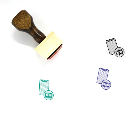 Video Player App Wooden Rubber Stamp No. 1