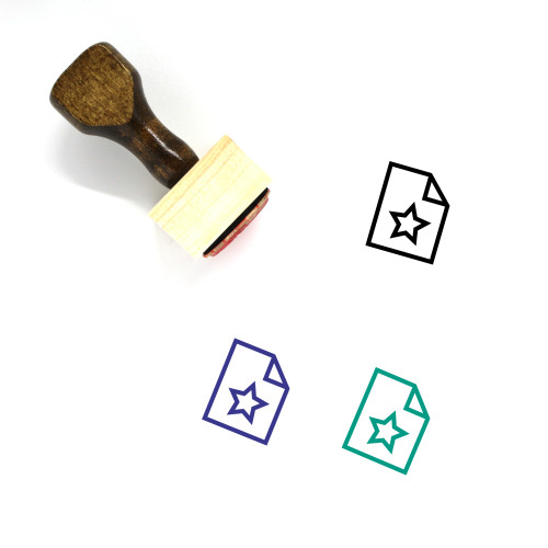 Favorite Document Wooden Rubber Stamp No. 24