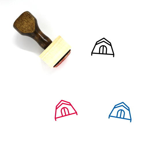 Tent Wooden Rubber Stamp No. 74