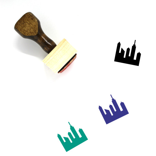 City Wooden Rubber Stamp No. 169