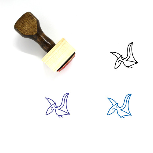 Pterodactyl Wooden Rubber Stamp No. 2