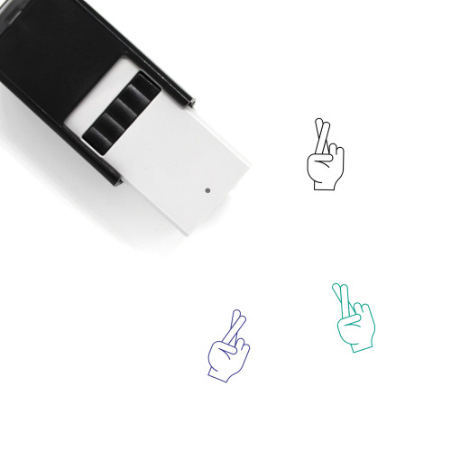 Fingers Crossed Self-Inking Rubber Stamp No. 18