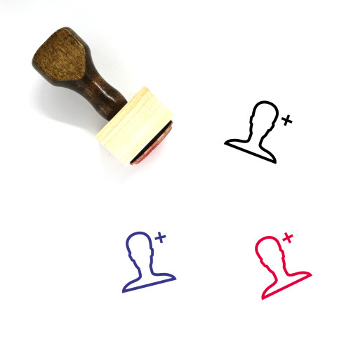 Add User Wooden Rubber Stamp No. 58