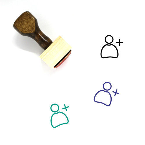 Add People Wooden Rubber Stamp No. 1
