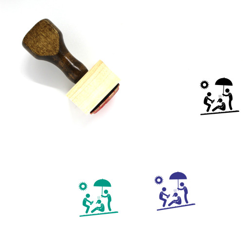 Exhausted Runner Wooden Rubber Stamp No. 1