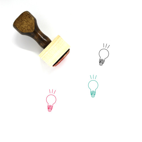 Flashing Light Bulb Wooden Rubber Stamp No. 2