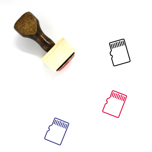Memory Card Wooden Rubber Stamp No. 61