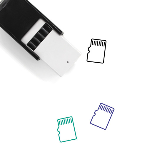 Memory Card Self-Inking Rubber Stamp No. 61