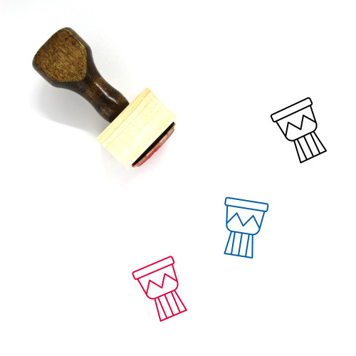 African Drum Wooden Rubber Stamp No. 4
