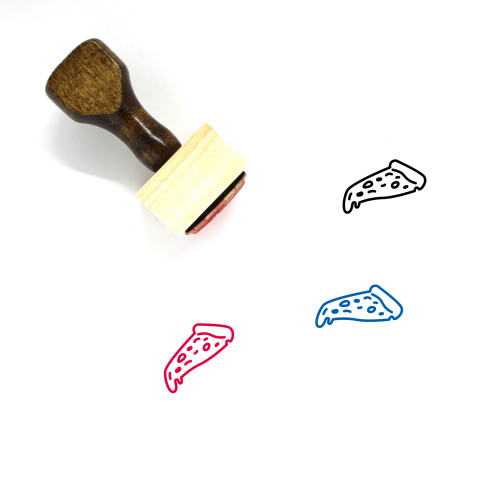 Pizza Wooden Rubber Stamp No. 31