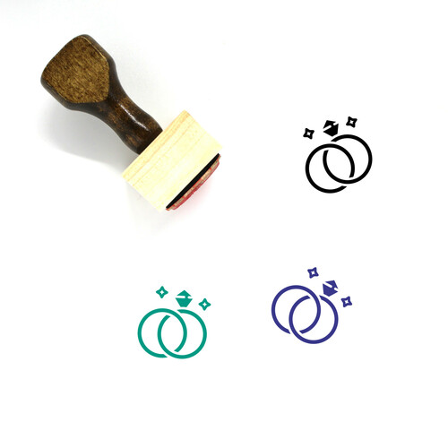 Rings Wooden Rubber Stamp No. 44