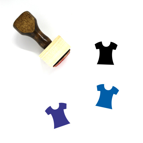 T Shirt Wooden Rubber Stamp No. 120