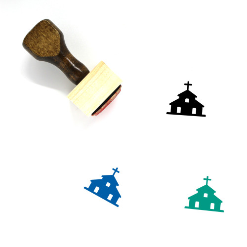 Church Wooden Rubber Stamp No. 204