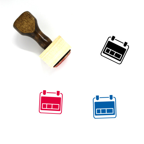 Day Wooden Rubber Stamp No. 104