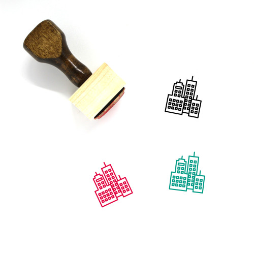 City Wooden Rubber Stamp No. 171