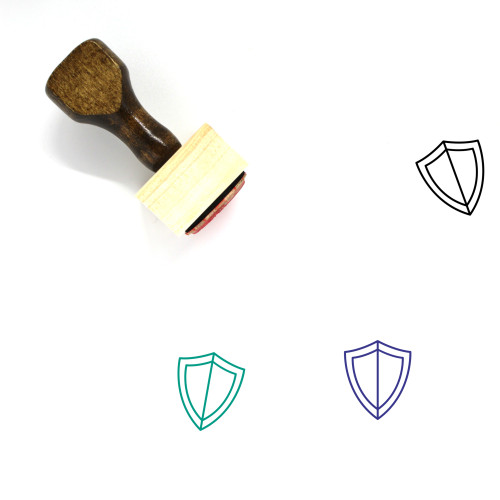 Shield Wooden Rubber Stamp No. 695