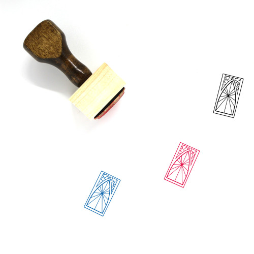 Stained Glass Window Wooden Rubber Stamp No. 3