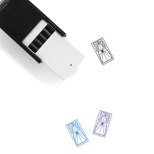 Stained Glass Window Self-Inking Rubber Stamp No. 3