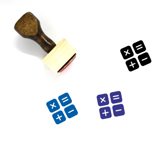 Calculation Wooden Rubber Stamp No. 4