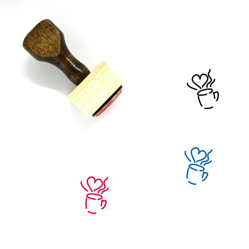 Cup And Mug Wooden Rubber Stamp No. 1