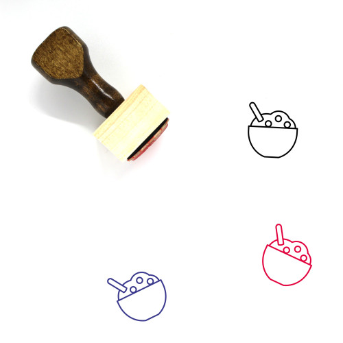 Cereal Wooden Rubber Stamp No. 32