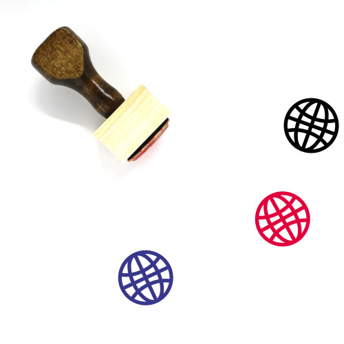 Globe Wooden Rubber Stamp No. 1243