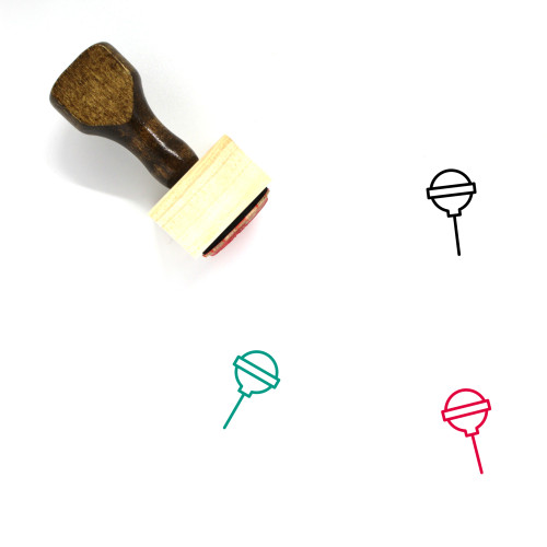 Lollipop Wooden Rubber Stamp No. 69