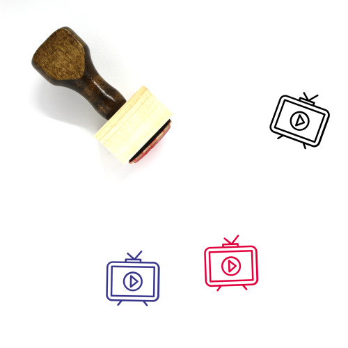 Television Video Wooden Rubber Stamp No. 2