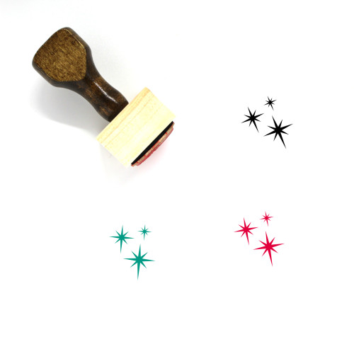 Sparkles Wooden Rubber Stamp No. 3