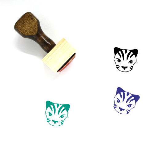 Tiger Wooden Rubber Stamp No. 22