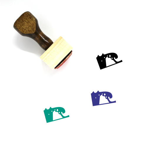 Dike Breach Wooden Rubber Stamp No. 1