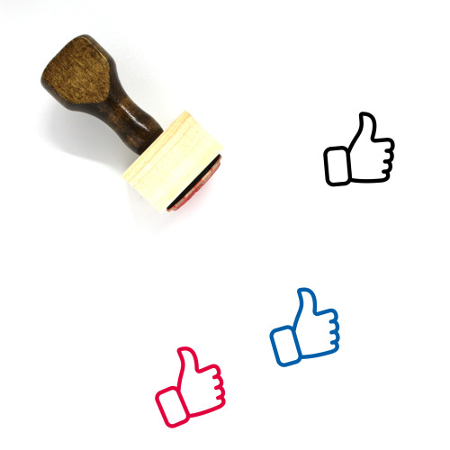 Thumbs Up Wooden Rubber Stamp No. 262