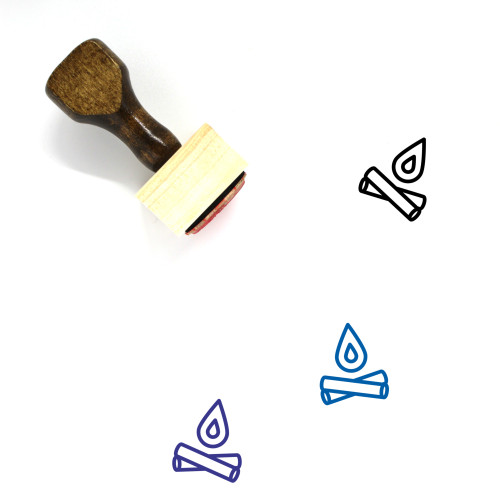 Fire Wooden Rubber Stamp No. 110