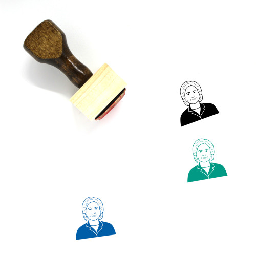 Hillary Clinton Wooden Rubber Stamp No. 12