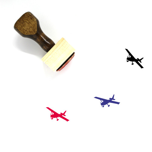 Airplane Wooden Rubber Stamp No. 306
