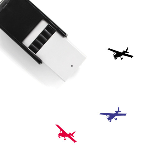 Airplane Self-Inking Rubber Stamp No. 306